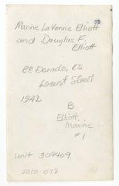 Maxine LaVonne Elliott and Douglas F. Elliott