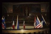 Rotunda flags in the Kansas Capitol, Topeka, Kansas