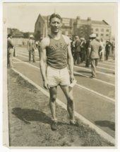 Glenn Cunningham at a track meet possibly in Milwaukee, Wisconsin