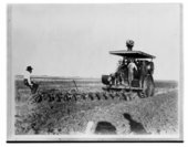 Steam tractor, Ness County, Kansas
