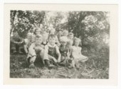 Students and teacher at Bonaccord School, District #98, in Dickinson County, Kansas