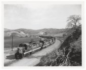 Atchison, Topeka & Santa Fe Railway Company freight train, Tehachapi Mountains, California