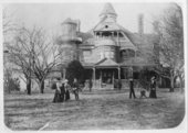 "Exterior views of John D. Knox's ""Belvoir"" home in Topeka, Kansas"