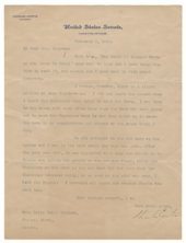 Letter from Charles Curtis to Lalla Maloy Brigham