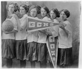 Girls basketball team, Greeley County High School, Tribune, Kansas