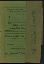 Mount Marty yearbook, 1910, Rosedale, Kansas
