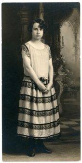 Studio portrait of Florence Palenske