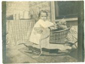 Florence Palenske With rocking horse