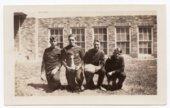 1933 Lecompton High School Basketball Team Members, Lecompton, Kansas