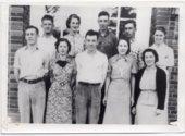 1938 Senior Class of Lecompton Rural High School, Lecompton, Kansas