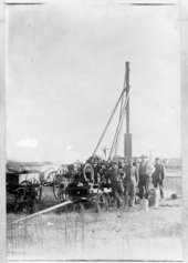 Drilling wells, Lane County, Kansas