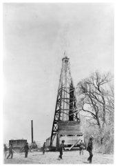 Wooden calander well, Wilson County, Kansas