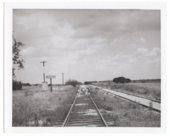 Atchison, Topeka & Santa Fe Railway Company's sign board, Buxton,Kansas