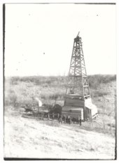 Oil well near Guilford, Wilson County, Kansas