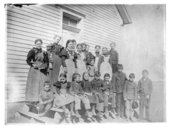 Students at an unidentified rural school in Thomas County, Kansas