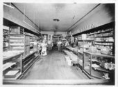 Three interior views of the Boerner and Troutfelter Mercantile store, Colby, Thomas County, Kansas