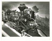 Atchison, Topeka and Santa Fe Railway locomotive No. 132 at the Kansas Museum of History in Topeka, Kansas
