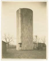 Silo,  Hernon Shearer homestead, near Glen Elder, Kansas
