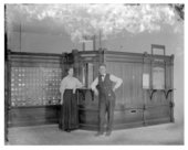 Interior of post office, Buffalo, Wilson County, Kansas