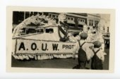 A.O.U.W. (Ancient Order of United Workmen) float, Kaffir Corn Carnival, El Dorado, Kansas