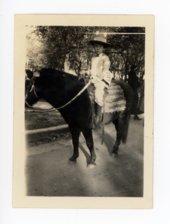 Child Rider in the 1925 Kaffir Corn Carnival Parade, El Dorado, Kansas