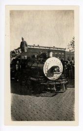 Train engine float, Kaffir Corn Carnival Parade, El Dorado, Butler County, Kansas