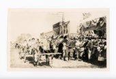 Mule-drawn wagon, Kaffir Corn Carnival Parade, El Dorado, Butler County, Kansas