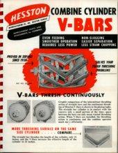 Combine Cylinder V-Bars equipment flyer, Hesston, Kansas