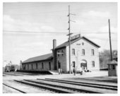 Atchison, Topeka and Santa Fe and Chicago, Rock Island, Pacific depot, Atchison, Kansas