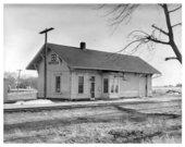 Atchison, Topeka and Santa Fe Railway Company depot, Meriden, Kansas