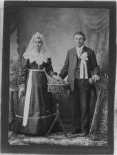 Volga German wedding portraits
