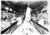 Interior of a grocery store in Neodesha, Wilson County, Kansas