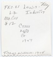Cross Manufacturing Company, Lewis, Kansas