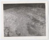 Indian drawings at Dray Creek Cave, Toronto, Woodson County, Kansas