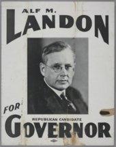Alf M. Landon for Governor