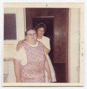 Ann Costello and Mabel Culpan, employees at Chicken Annie's Original, Frontenac, Kansas
