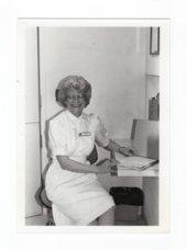 Halstead Hospital staff member Phyllis Neufeld