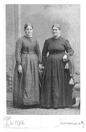 Emma Good Beebe and Susannah Good Morris