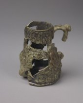 Relief Molded Stoneware Jug from the Baker House, 14MO701