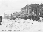 Snow covered street, Salina, Kansas