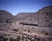 Eastbound train, Abo Canyon, New Mexico