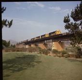 "Santa Fe ""Super C"" train, Corona, California"