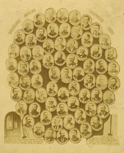 The Douglass House or Republican members of the Kansas House of Representatives, during the Populist War. - Page
