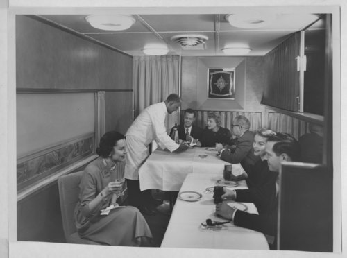 Atchison, Topeka & Santa Fe Railway dining car - Page