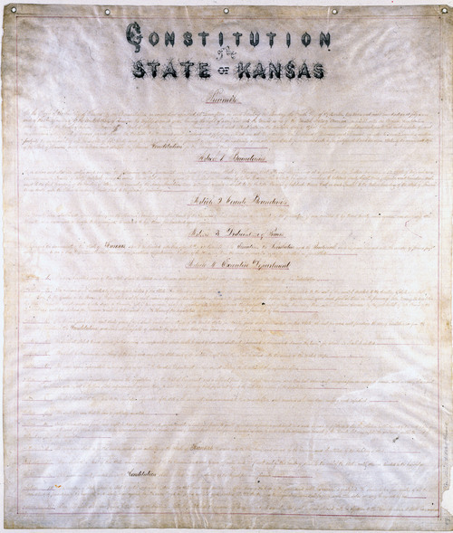 Image of and link to the Lecompton Constitution