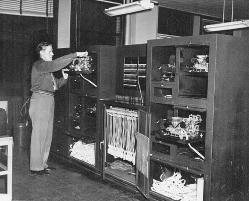 Transmitter teletype tape bank, Chicago, Illinois - Page