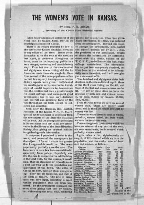 The women's vote in Kansas - Page