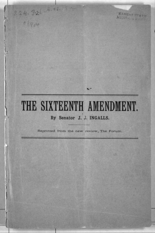 The Sixteenth Amendment - Page
