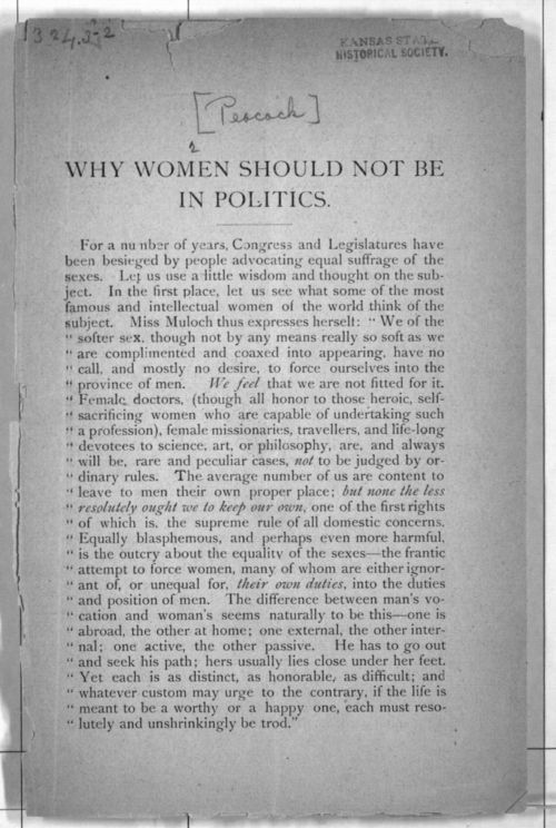 Why women should not be in politics - Page