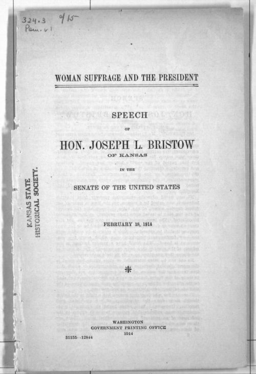 Woman Suffrage and the President - Page